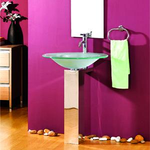 Stålkonsol Line til rund håndvask