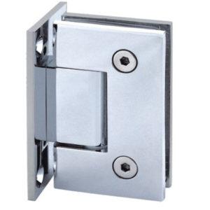 Hængsel til glasdør center væg/glas 90 grader