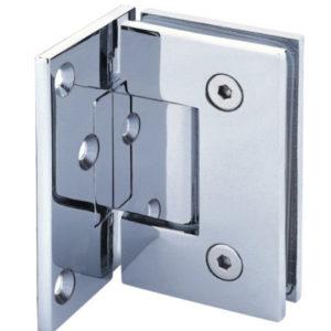 Beslag til glasdør væg/glas 90 grader