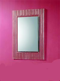 Kradrat spejl med glasramme 70x100mm