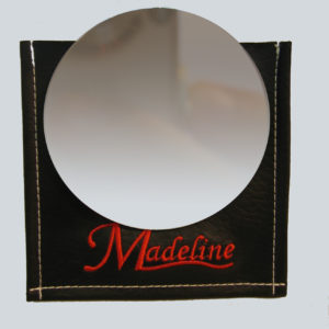 Make-up spejl med pung Ø10 cm