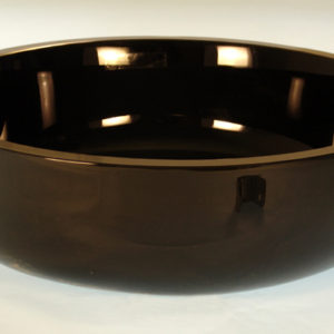 Rund flad glashåndvask sort Ø43