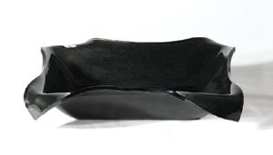 Kvadratisk flad glashåndvask sort 45×55
