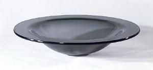 Mørkegrå oval glashåndvask 65×48